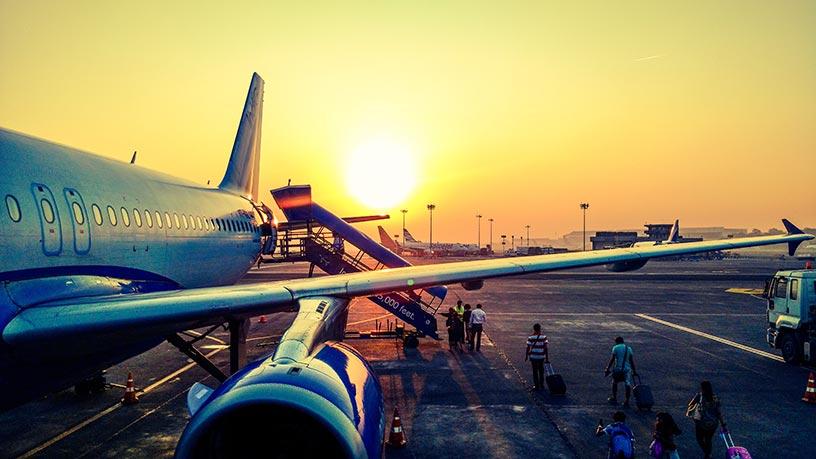 Viajar al caribe con niños en avión