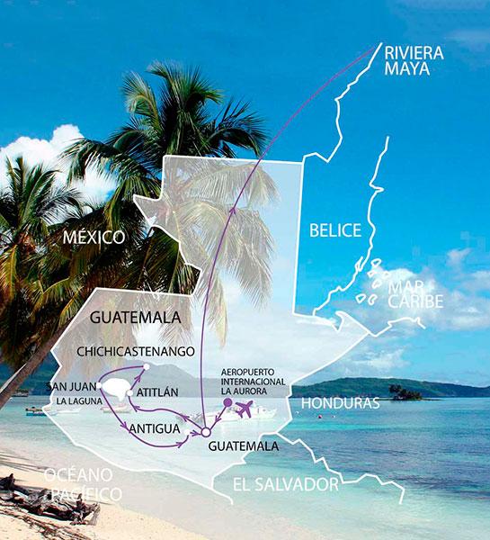 Combinado a la Riviera Maya y a Guatemala